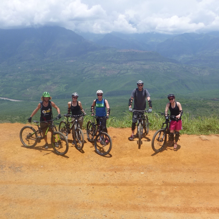 An exhilarating group mountain bike in Barichara, Colombia, courtesy of  Colombian Bike Junkies .