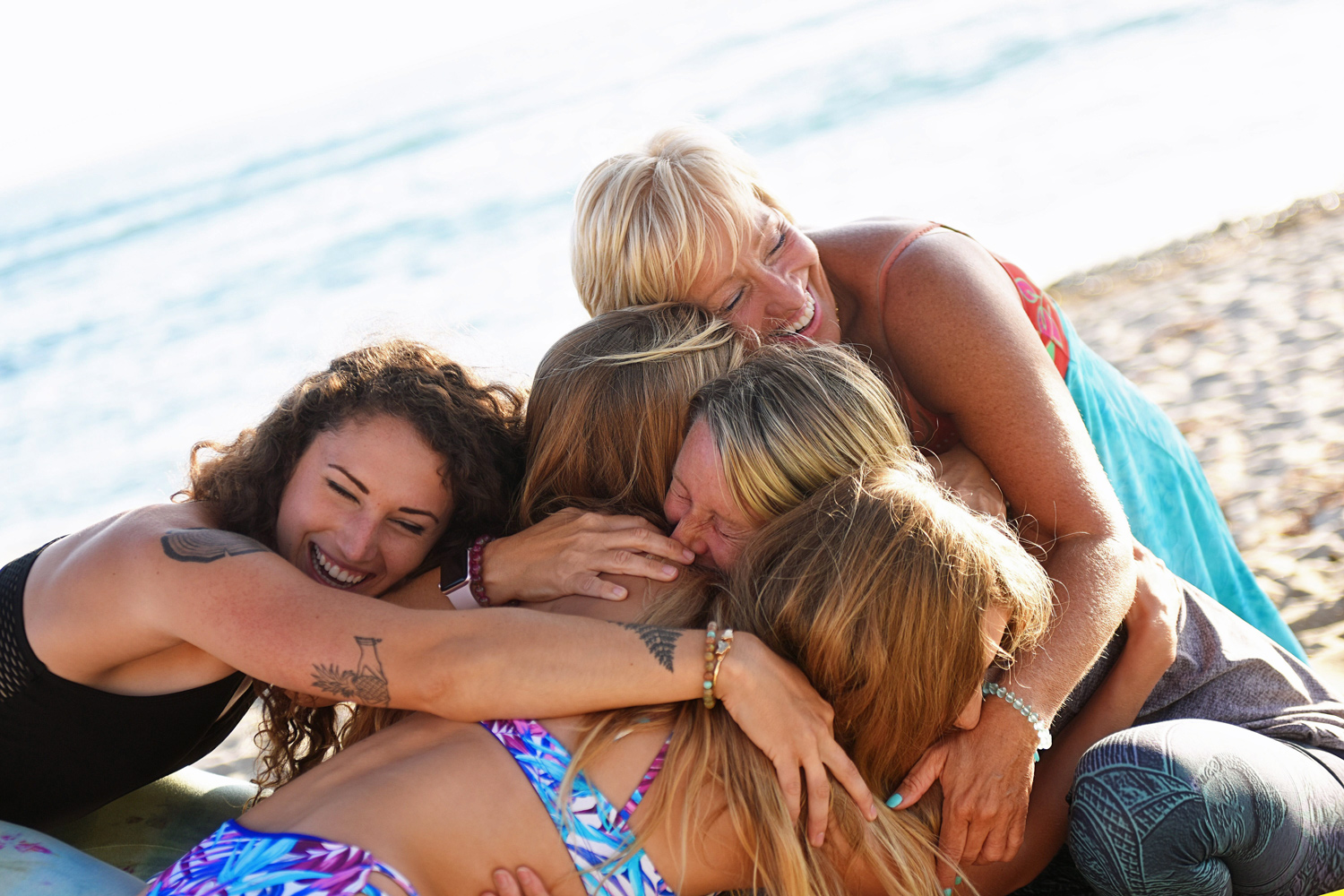 Experiencing the pure stoke of community of supportive, encouraging women