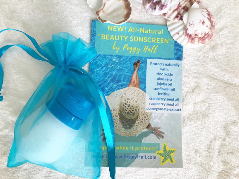 Beauty sunscreen in squeezable bottle