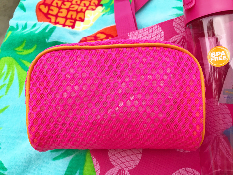pink cosmetic bag peggy hall