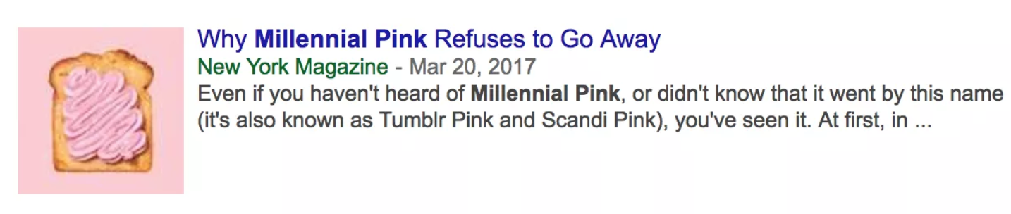 Why Millennial Pink Refuses to Go Away – March 20, 2017
