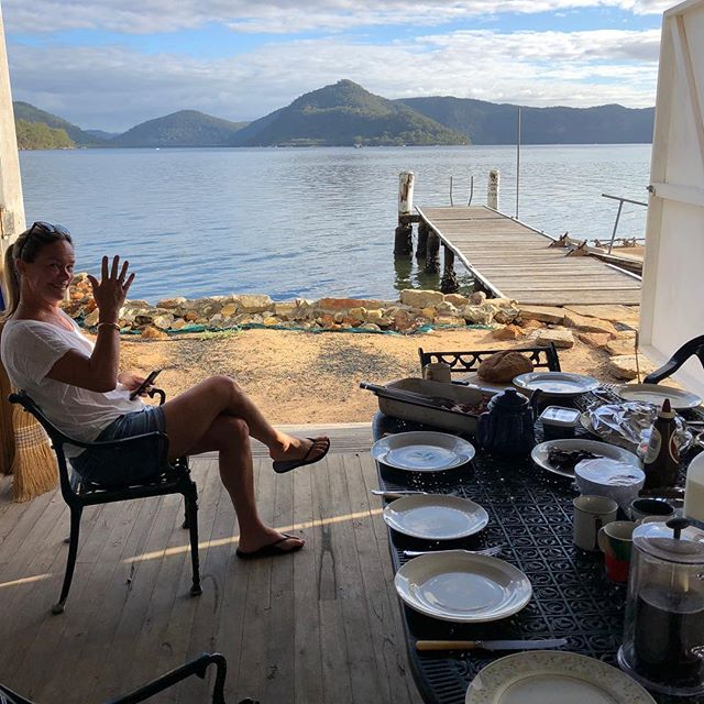 Breakfast at the boathouse, Tarracoonie style