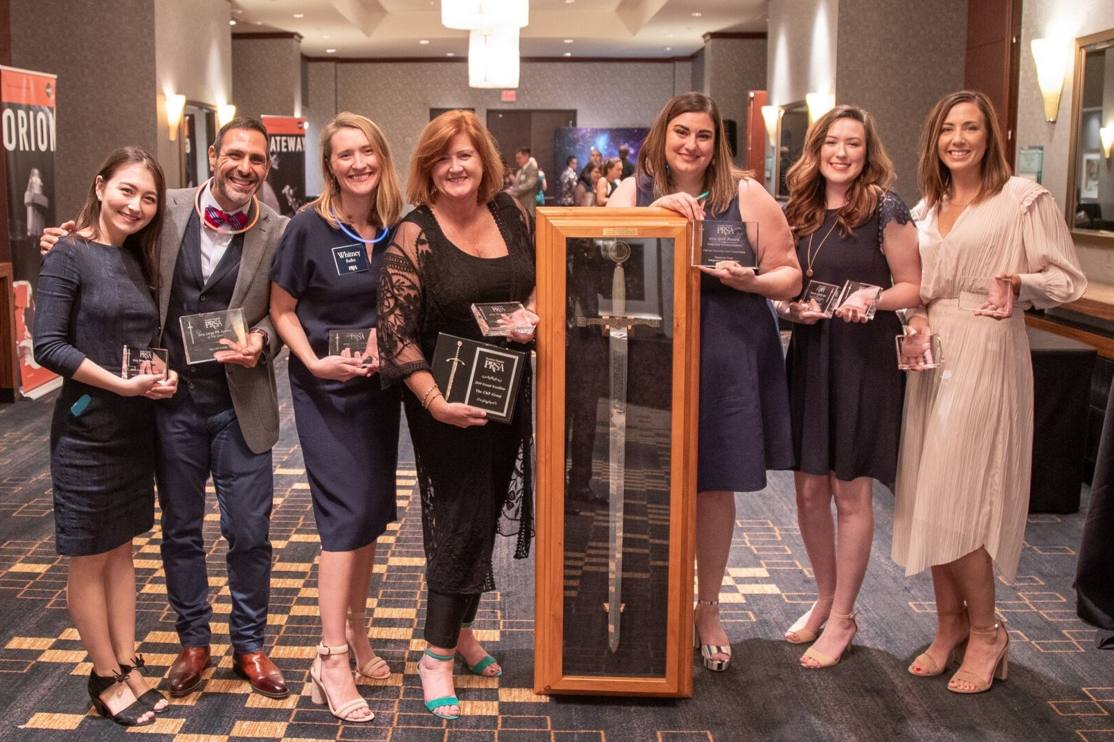 The CKP team accepts 12 awards at PRSA Houston's 2019 Excalibur Awards event