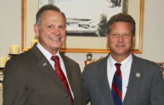 Roy Moore with Steve Schuh at a Sept. 2017 fundraiser. Photo is from Facebook and was published at  The Arundel Patriot.