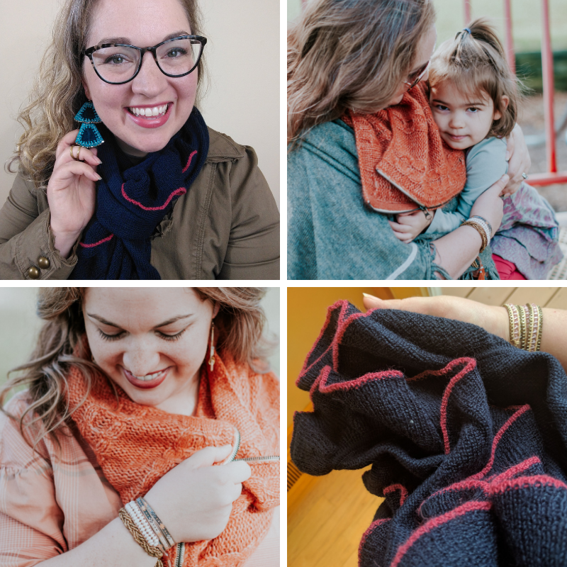 Cozy Cables Zip Scarf photo credit: @abbiefosterchaffee