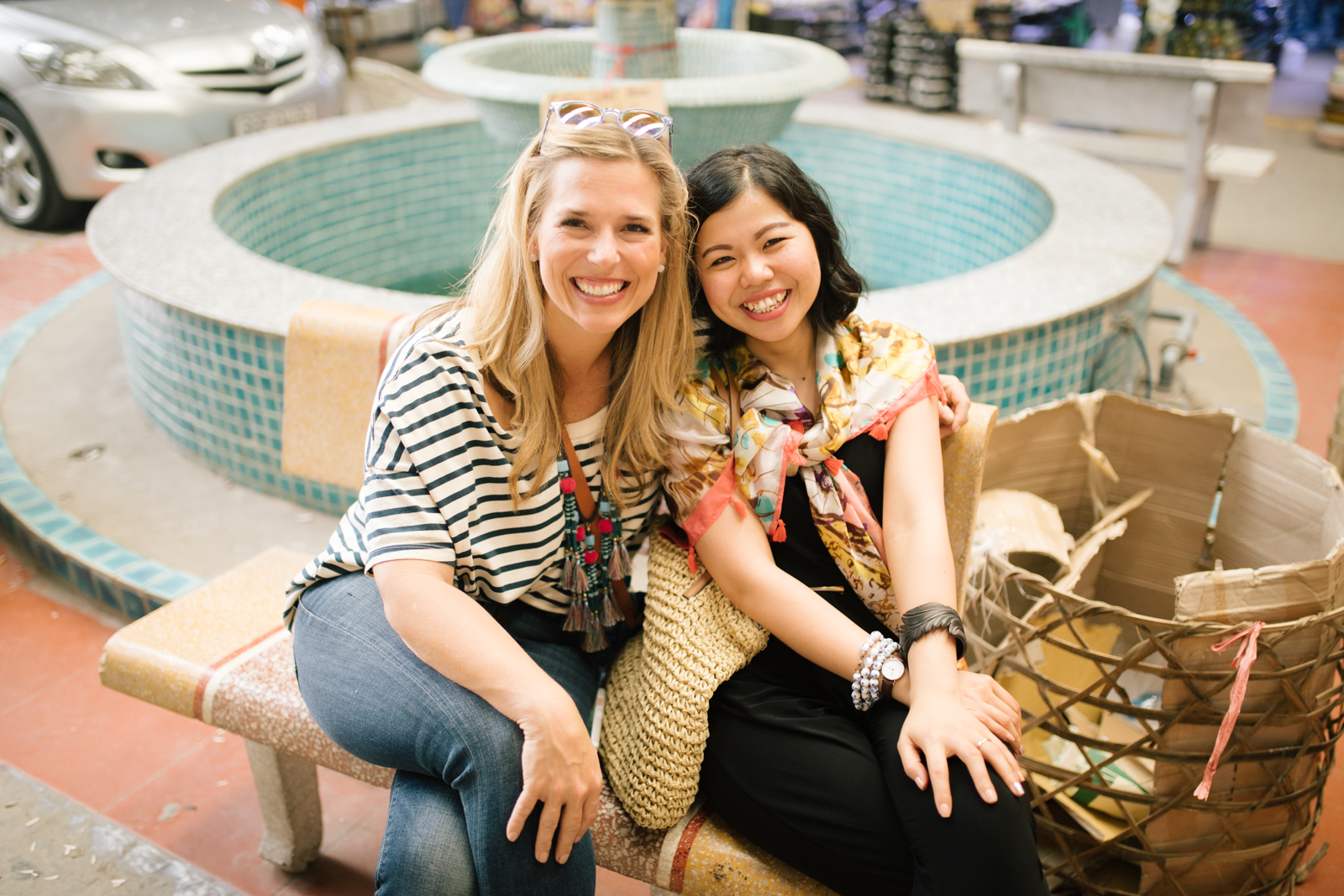 Noonday's founder, Jessica Honegger, with Mai of Au Lac Designs