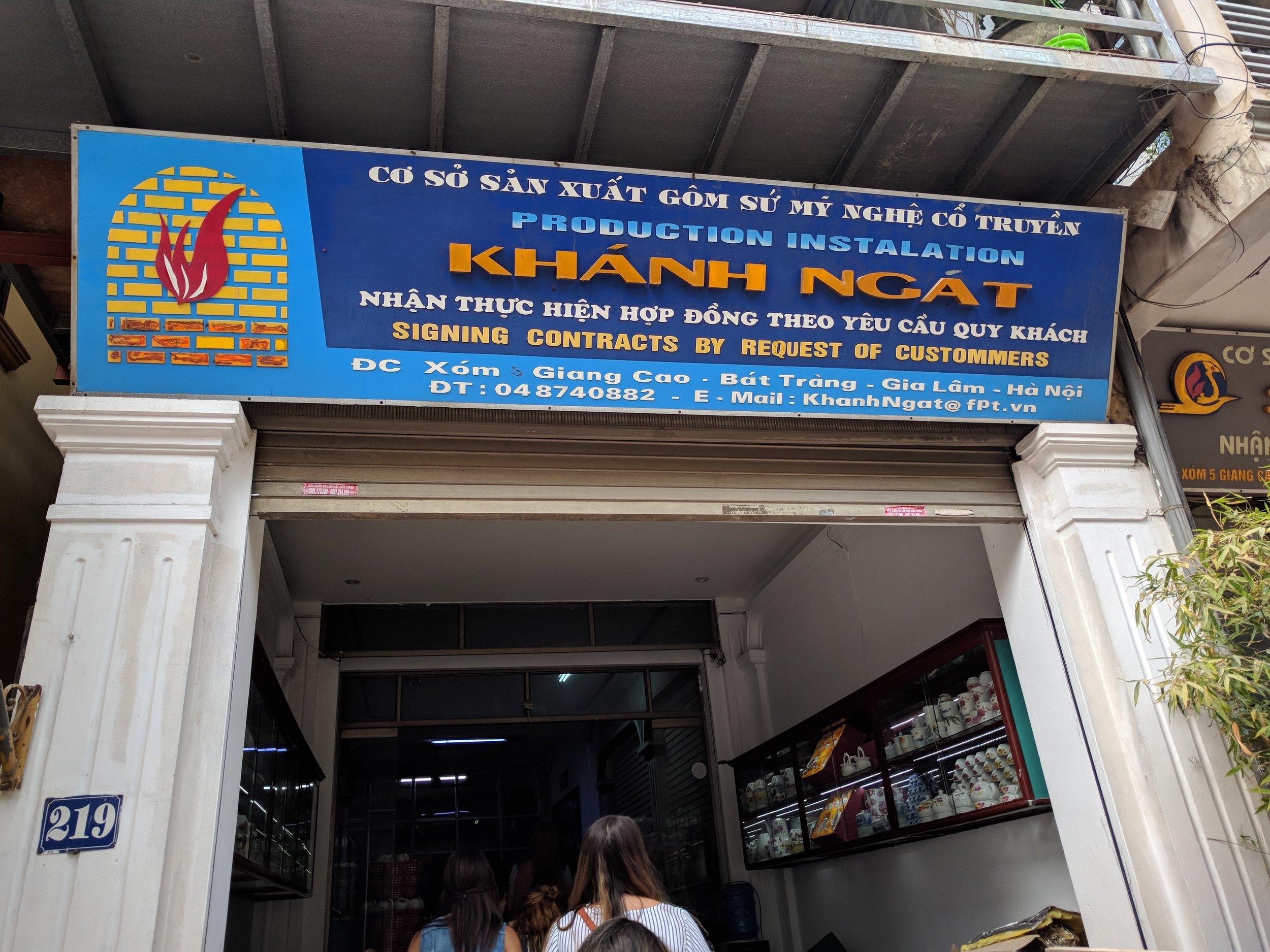 Entering Khanh Ngat, our partner business