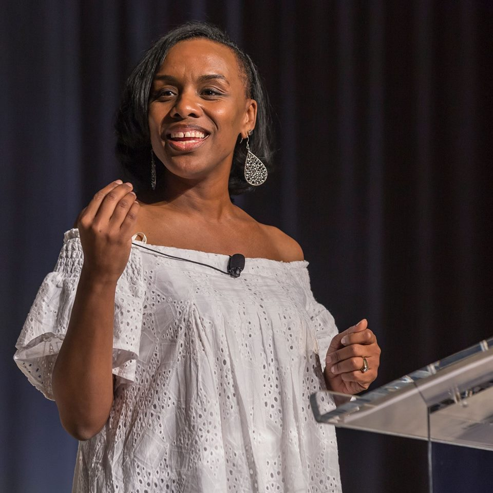 Michelle McKinney has been at our Shine conference the last two years to get us fired up - and herd Waterdrop Prism Earrings sparkle from the stage to the back seats. @michellemckinney (photo @noondaycollection)