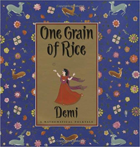 Diverse children's books that connect kids to countries around the globe, featuring Noonday Collection's partner countries. Pictured: One Grain of Rice by Demi, set in India. #noondayambassador #childrenslit #kidslit #diversebooks
