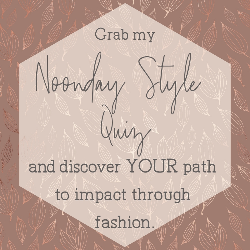 take the Noonday Collection style quiz from ambassador Julie Godshall to discover your path to impact through fashion.