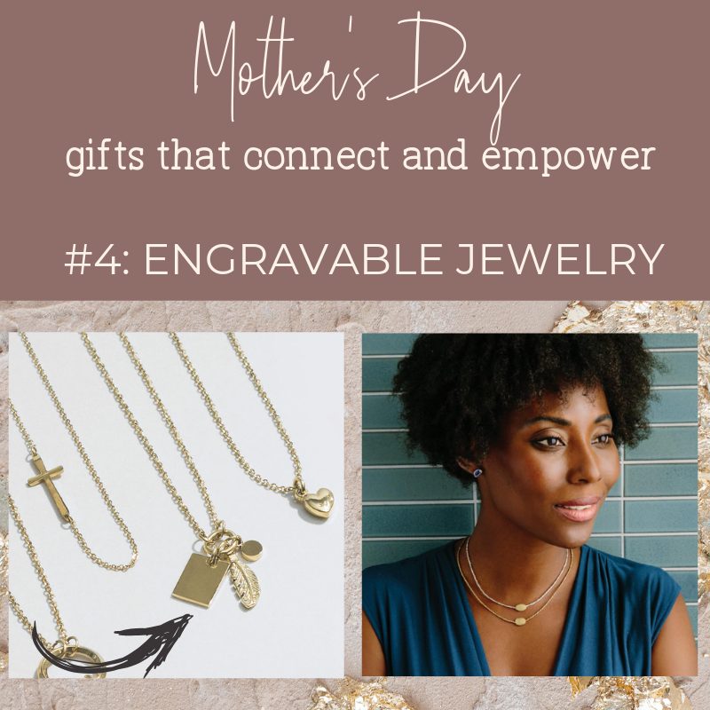 Noonday Collection's fair trade accessories make meaningful Mother's Day Gifts. Gift idea: engrave the Courage Necklace from East Asia or the Droplet Necklaces (sold separately, gold and silver) from Ethiopia.