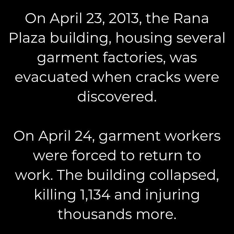 Rana Plaza Complex and the fashion revolution