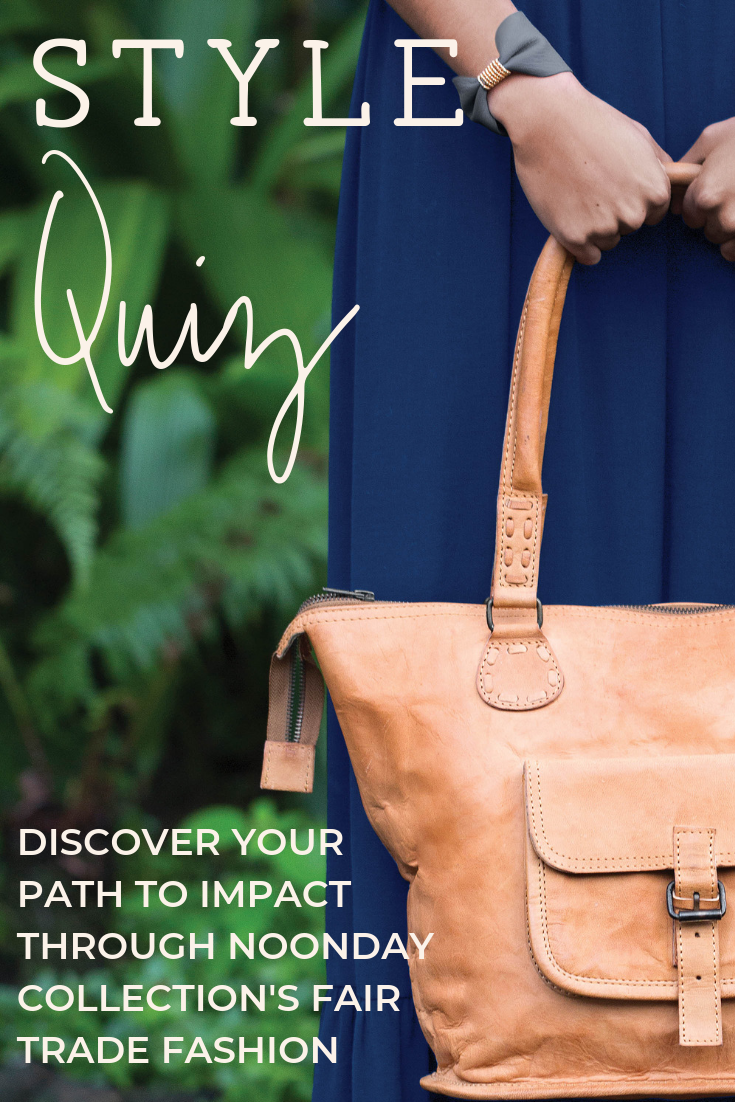 Take the style quiz to discover fair trade accessories from Noonday Collection. Pictured - Rustic Leather Tote.png