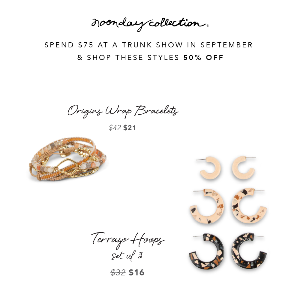 September guest specials for Noonday
