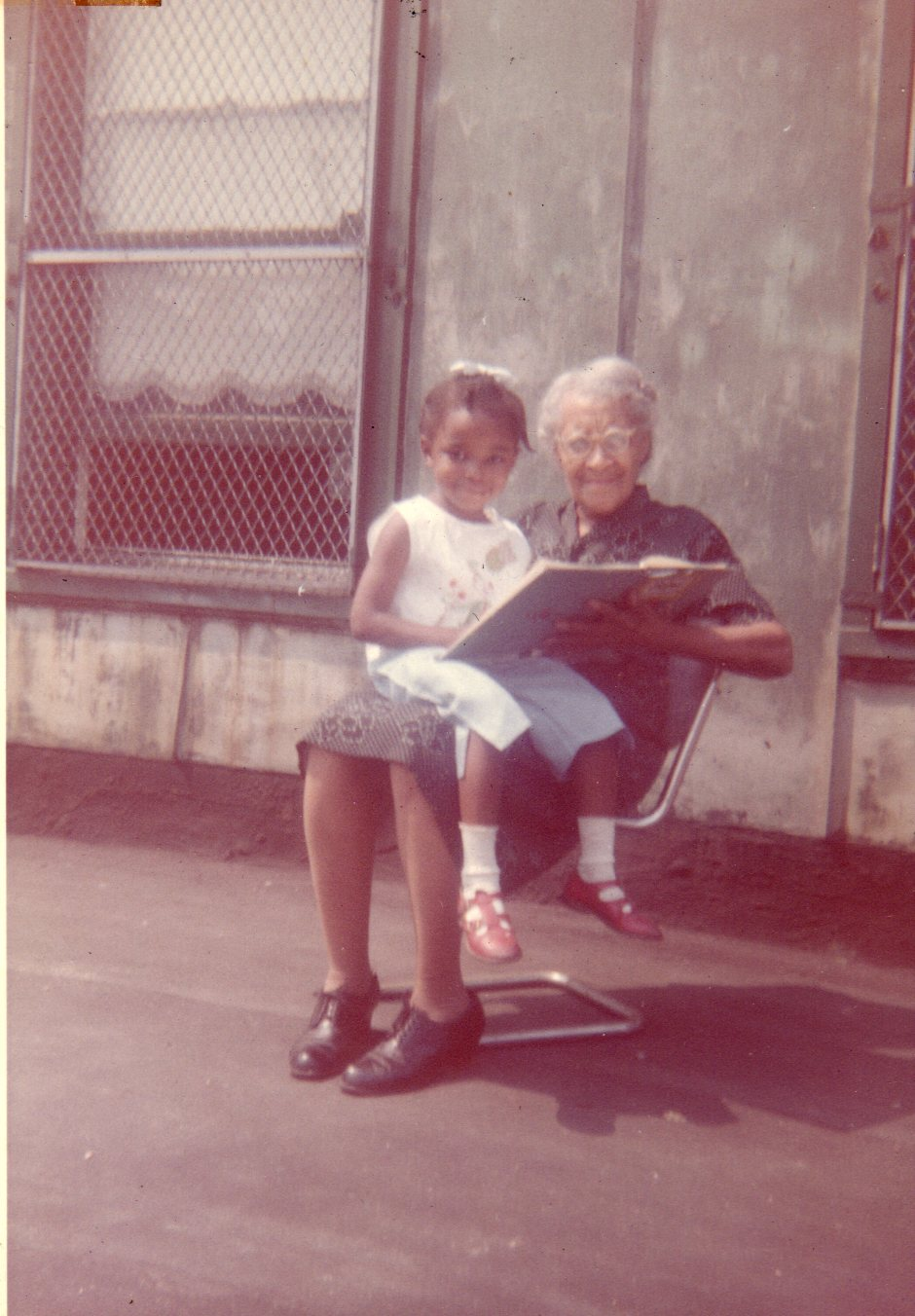 Me and Gramma on Library roof.jpg