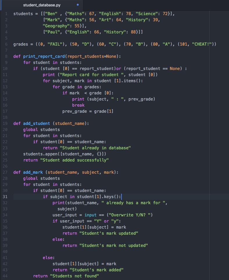 written in atom IDE