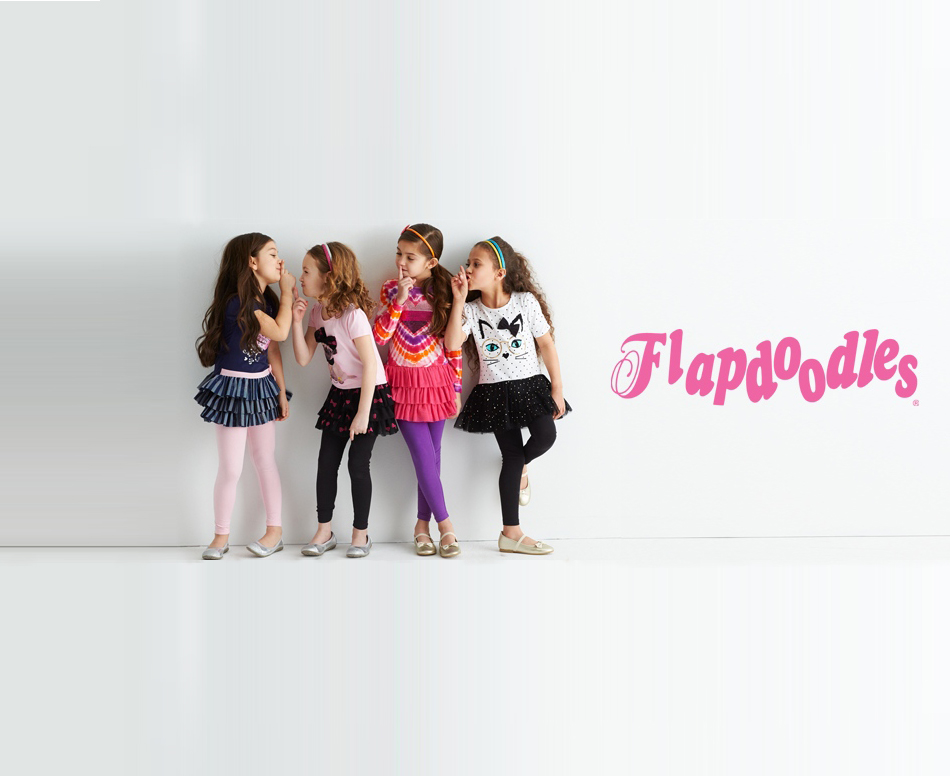 Our Kid-story - Originally debuting in the 1986, Flapdoodles was known for it's simple styles, brilliant colors, relaxed design and colorful prints. The brand rapidly developed into a leading brand of children's clothing.Flapdoodles was built on the premise that kids needed