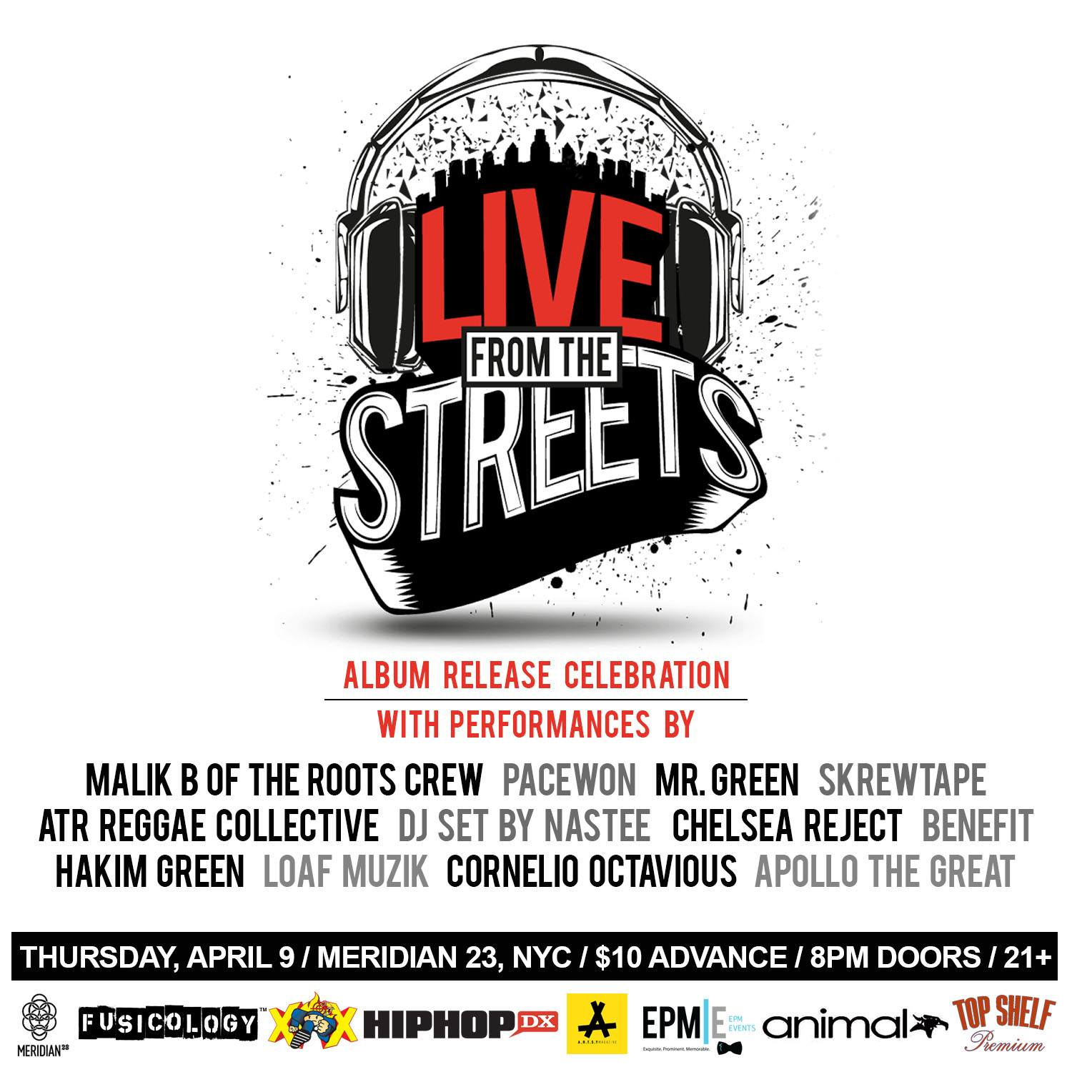 """Mr. Green's """"Live From The Streets"""" Album Release  Meridian23 4.9.15"""
