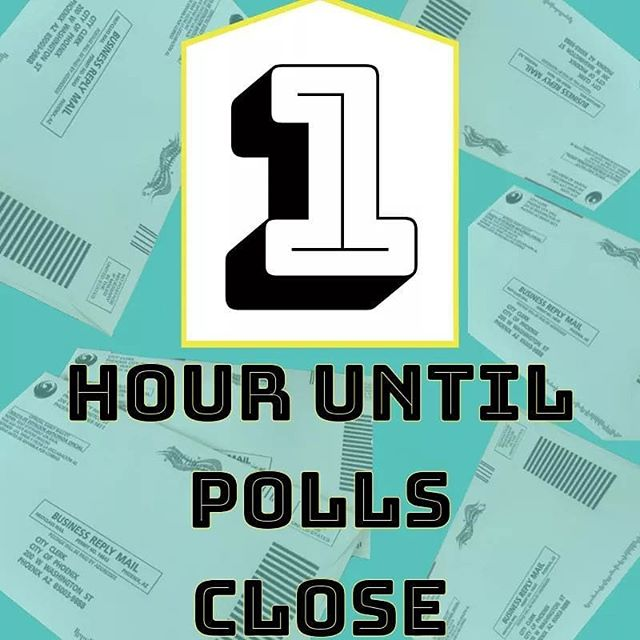 Polls close in 1 hour #GoVote