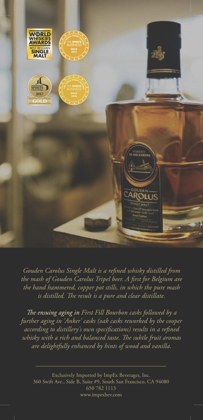Gouden Carolus Single Malt Whisky — European Wines & Spirits