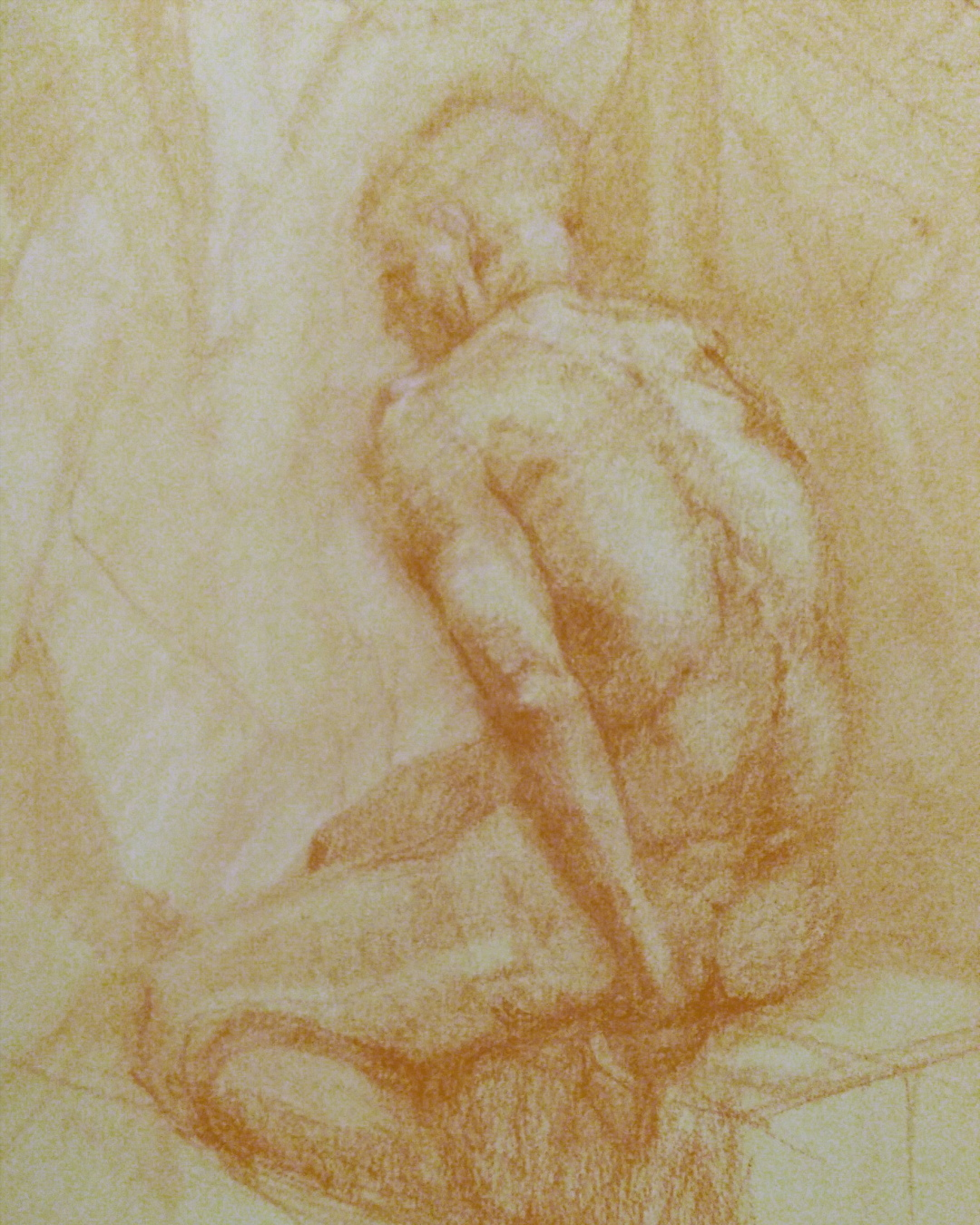 Red Chalk on Paper 6 x 8 inches