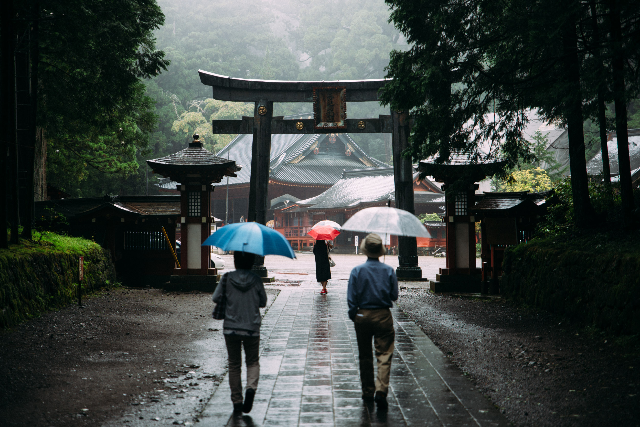 Japan can be very beautiful in the rain. This photo was shot in Nikko, about 90 minutes from downtown Tokyo.