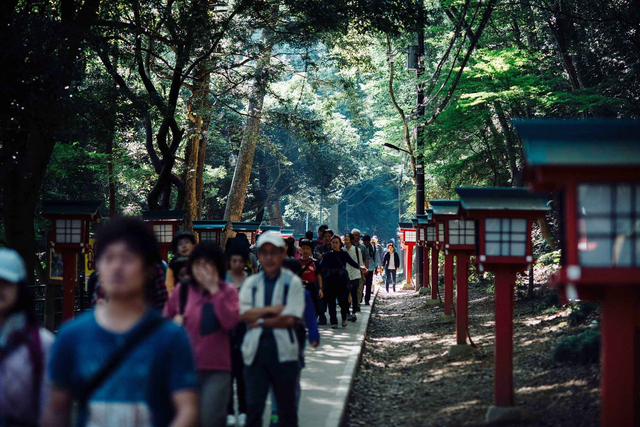 Weekends are best avoided at Mt. Takao.