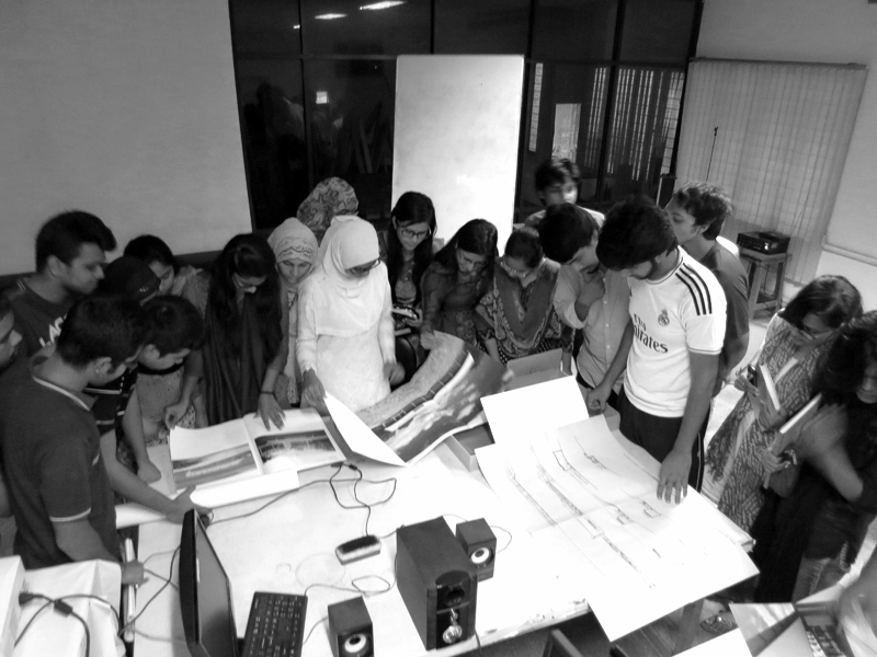 a Class explores the folio - at the Bangladesh University of Engineering & Technology