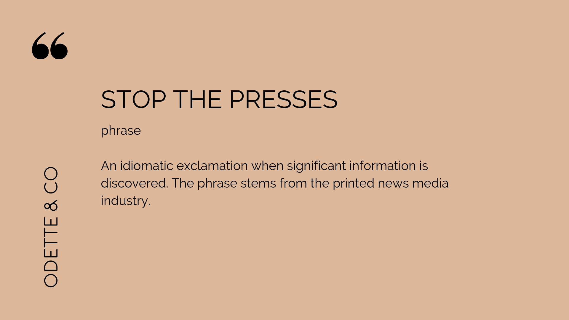 How to DIY your PR - stop the pressers