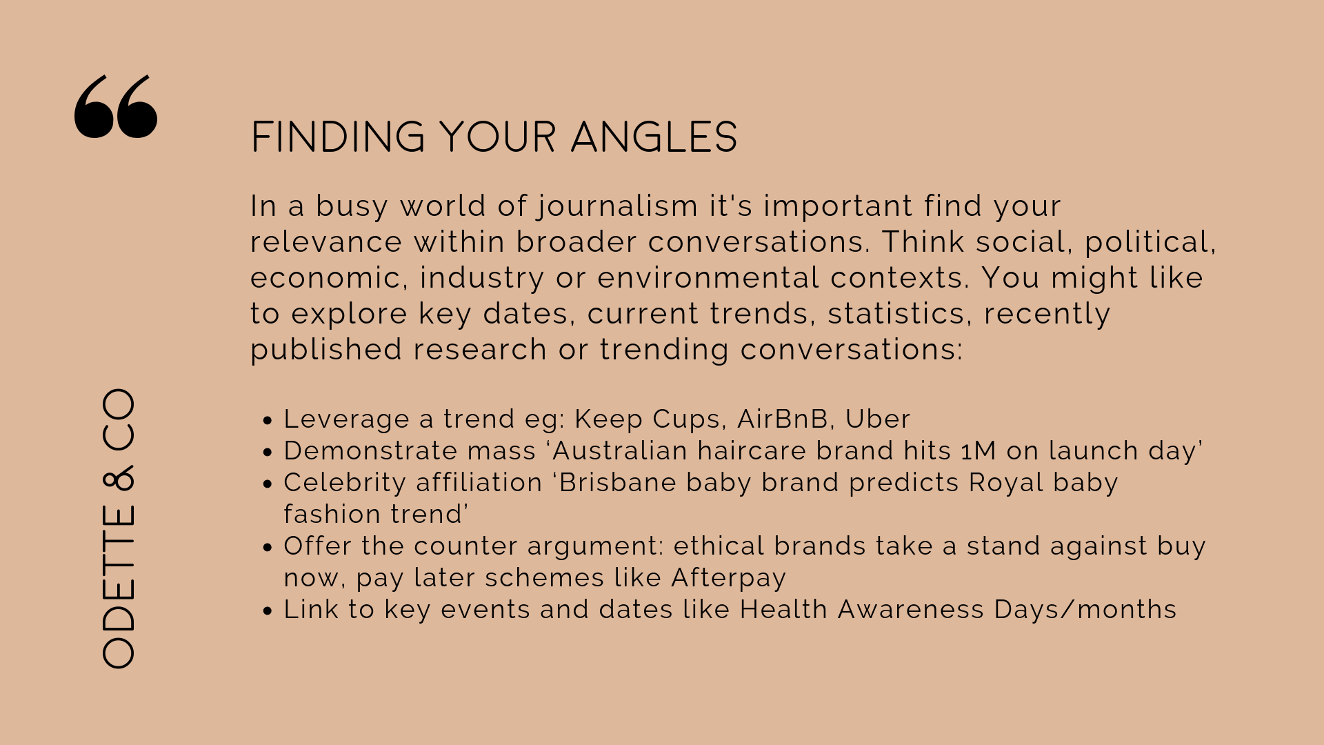 How to DIY your PR - finding your angles