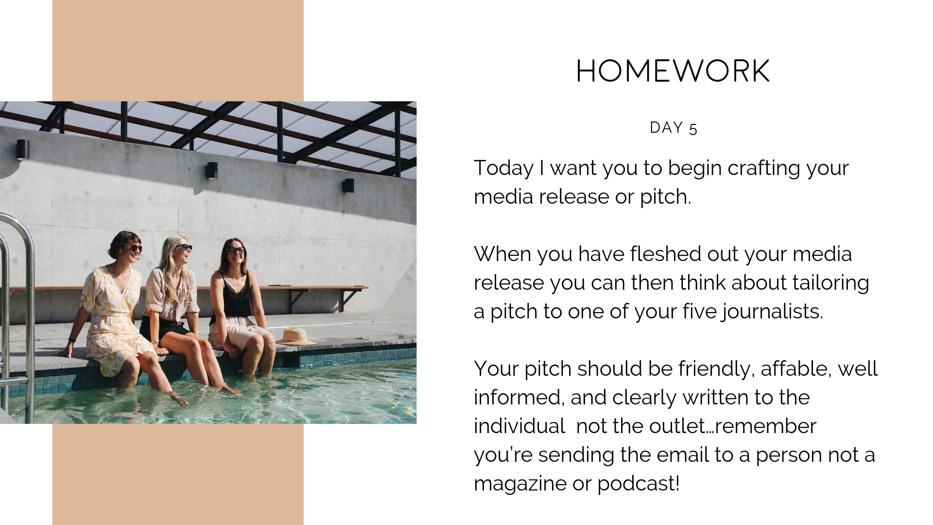 How to DIY your PR - media release and pitch writing homework