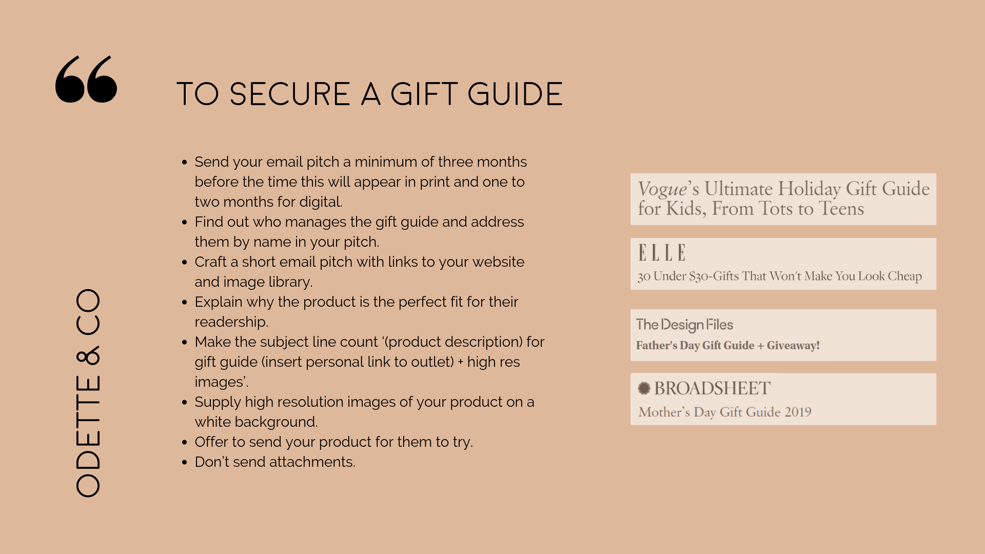 PR holiday gift guides
