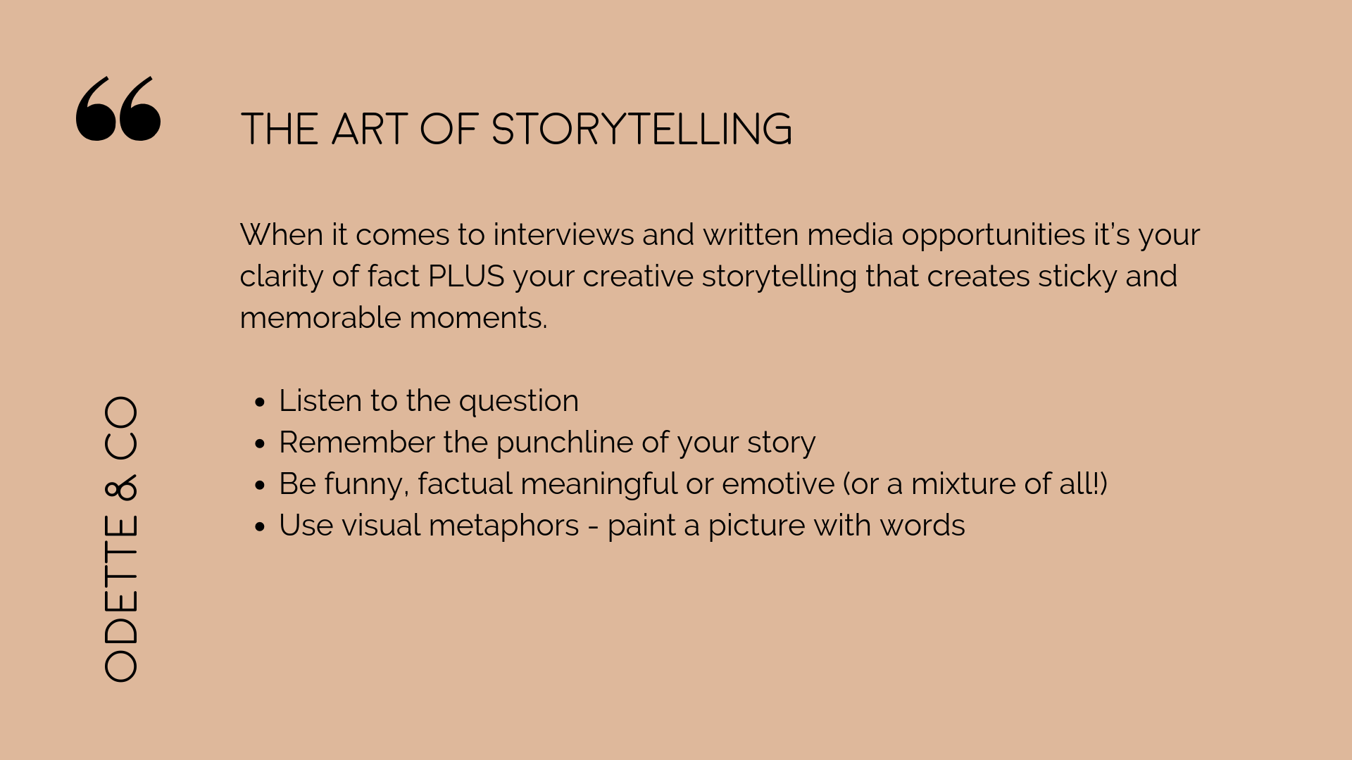 How to DIY your PR the art of storytelling