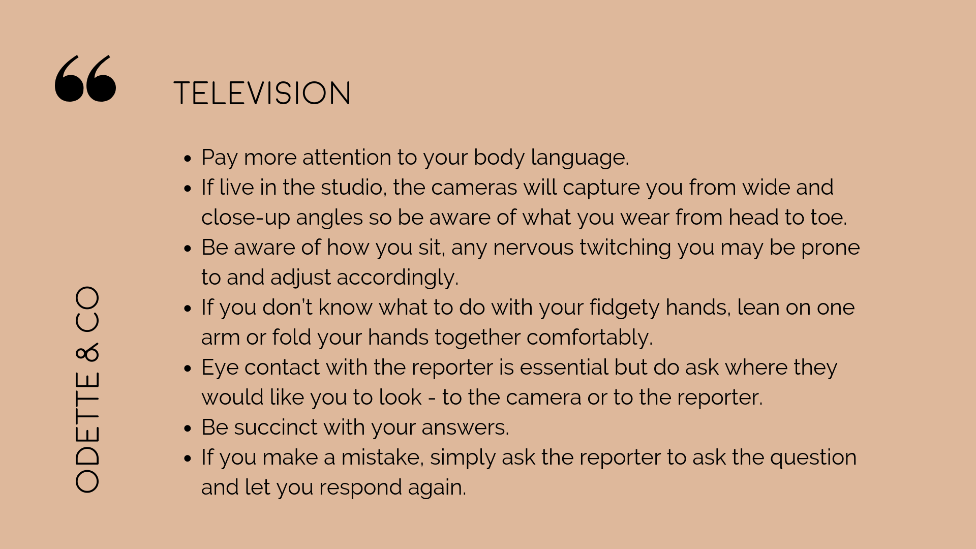 How to DIY your PR - what to expect for TV interviews
