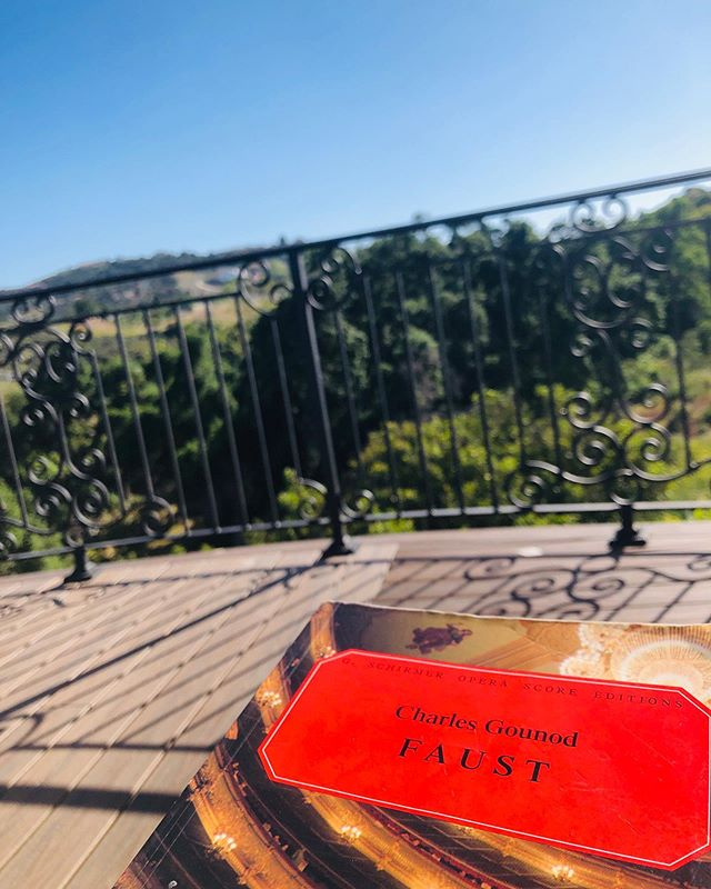 Some Faust with a view! Can't wait to sing Sièbel again. Rehearsals at @operasanantonio start next week!