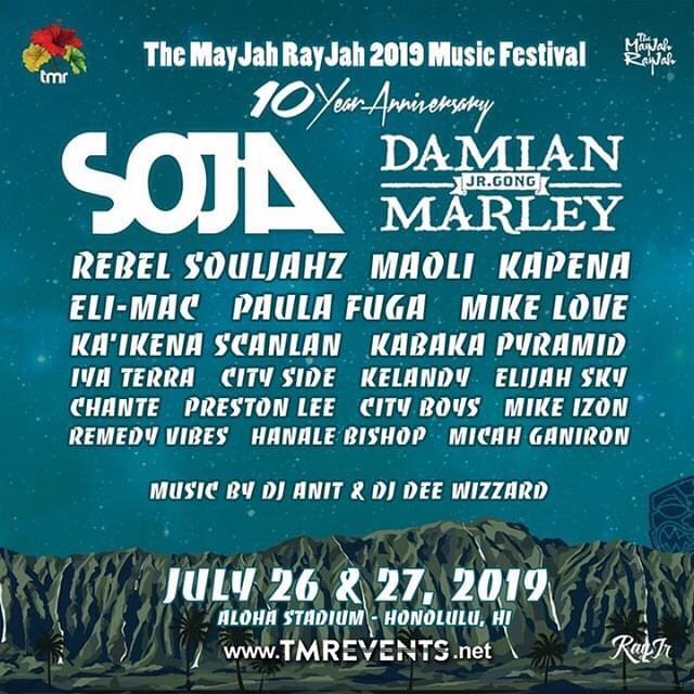 10 DAY COUNT till @TheMayJahRayJah 2019 Music Festival featuring @damianmarley & @sojagram. Save 40% Off till July 21 online only using promo code TMREVENTS. Purchase now at www.tmrevents.net #mayjahrayjah #tmrevents #cityboys #cityboysmusic #liveloveserve
