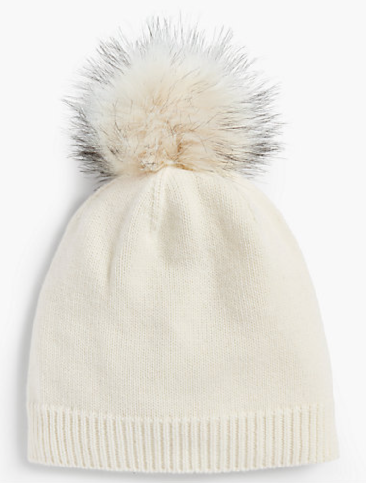 pom pom beanie - I have an obsession with these, especially during this time of year. My collection is slightly overflowing and I'm okay with that.