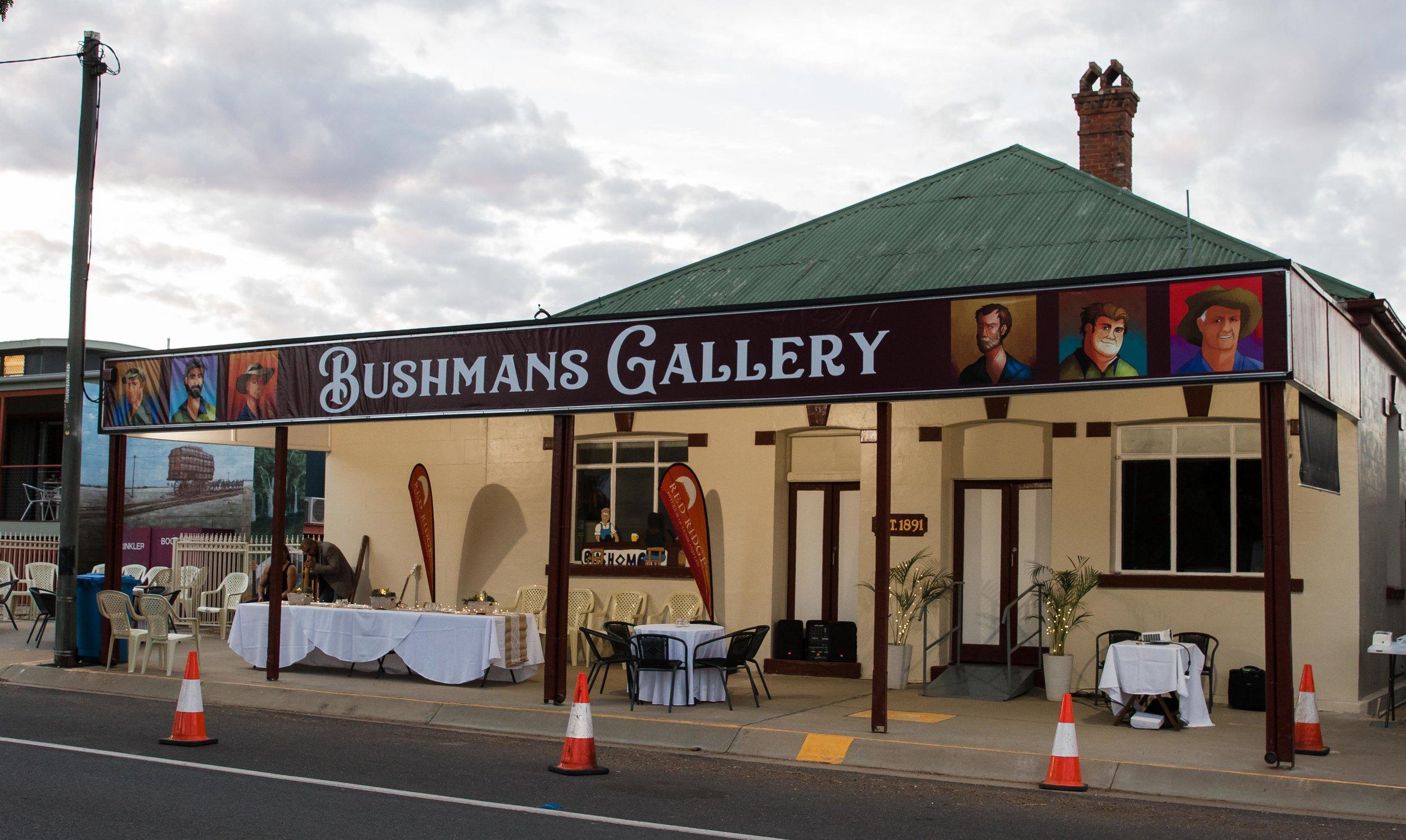 Bushmans Gallery in the Bushmans Hotel, Blackall