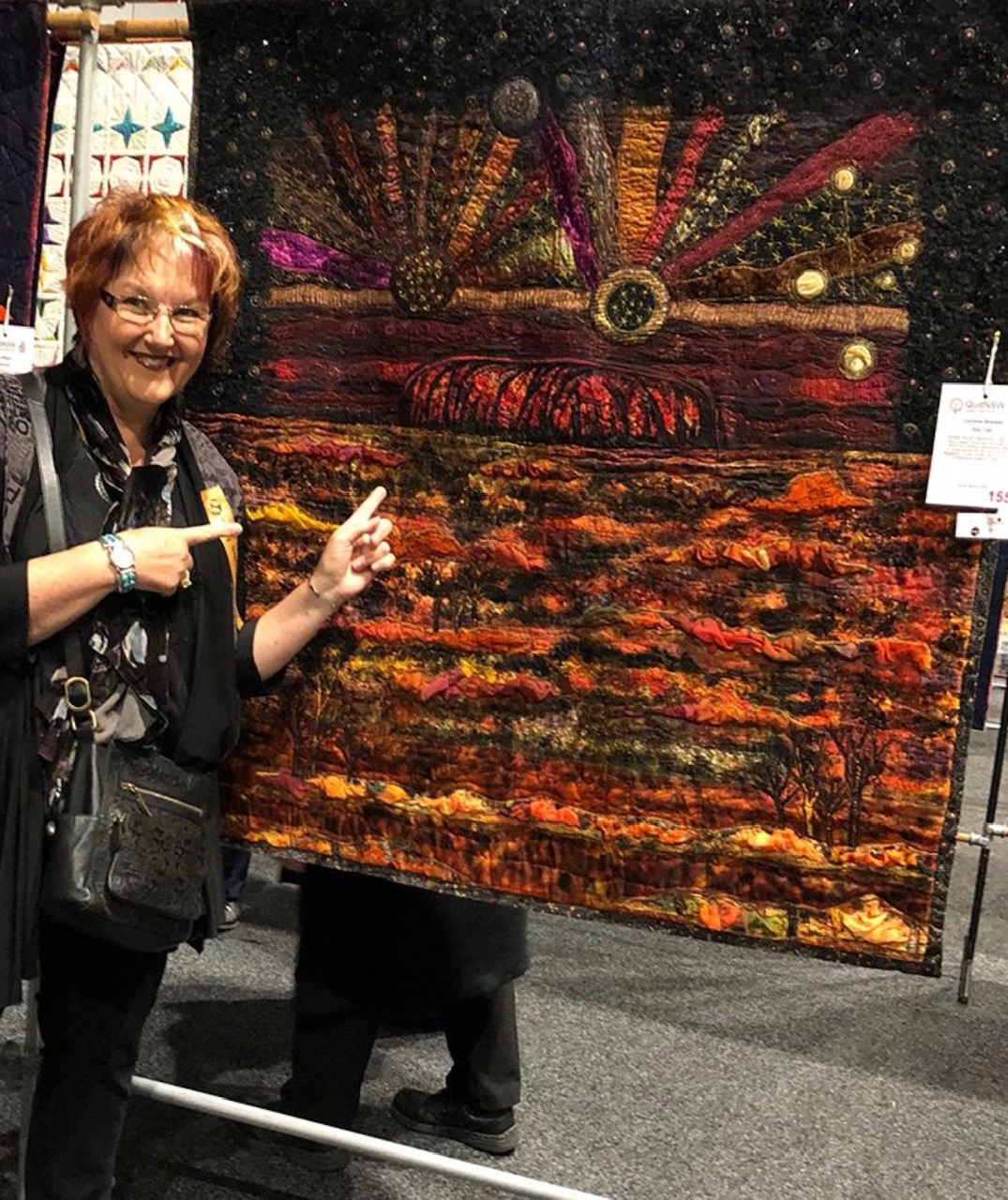 Caroline with her quilt Star Talk which won Best in Show Quilt NSW 2018.jpg