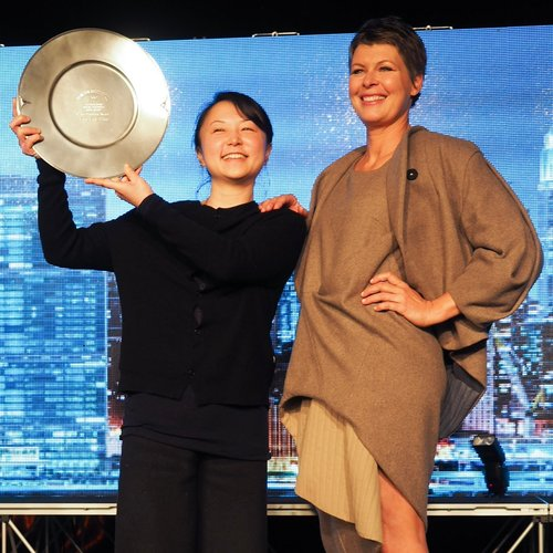 Feng Feng Wang with her winning design