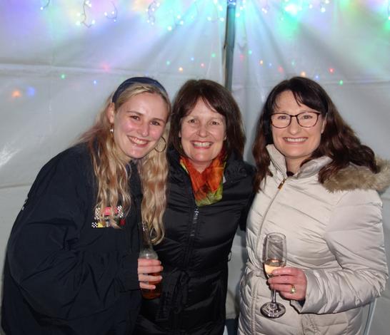 Three lefties: Imogen - the proud left hander (left), Amanda (middle), Caroline (right)
