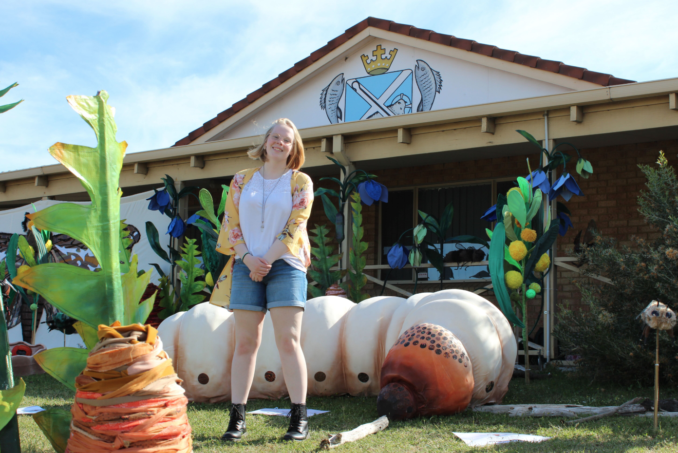 Taya Scholz was one of those working behind the scenes at the Esperance Wildflower Festival.