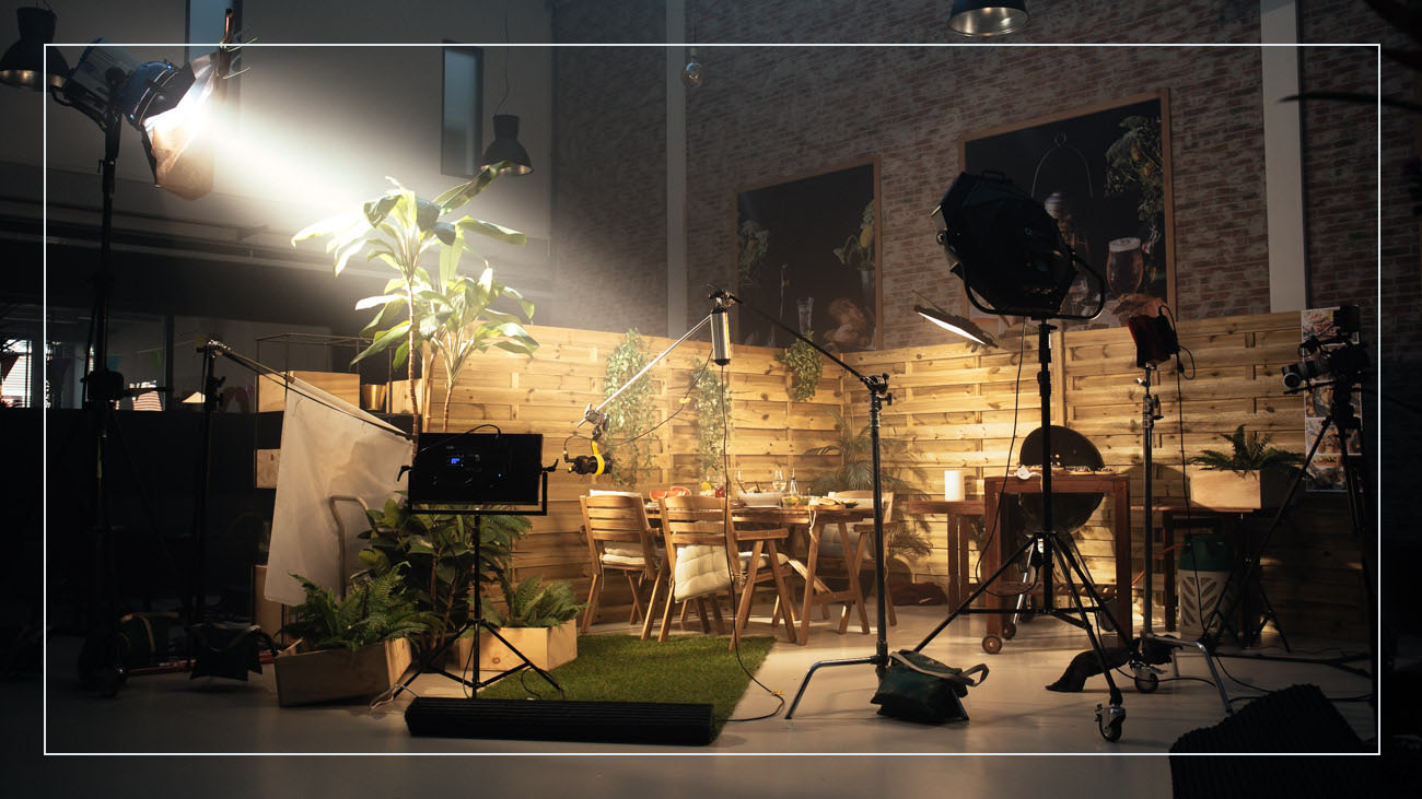 An example of a set we created and built in our studio for a summer BBQ Campaign.