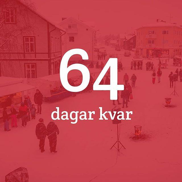 """Nu är det """"bara"""" 64 dagar kvar till årets upplaga av Jokkmokks julmarknad & kulturfestival! 🎅 Om du är sugen på att stå och sälja på marknadsområdet, besök länken i bio — eller hör av dig till oss!"""