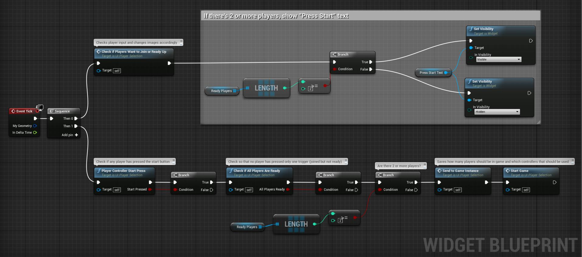 Player Selection - Main Loop