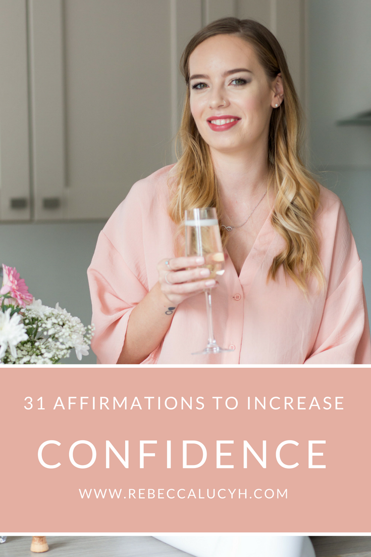 31 Affirmations to increase confidence