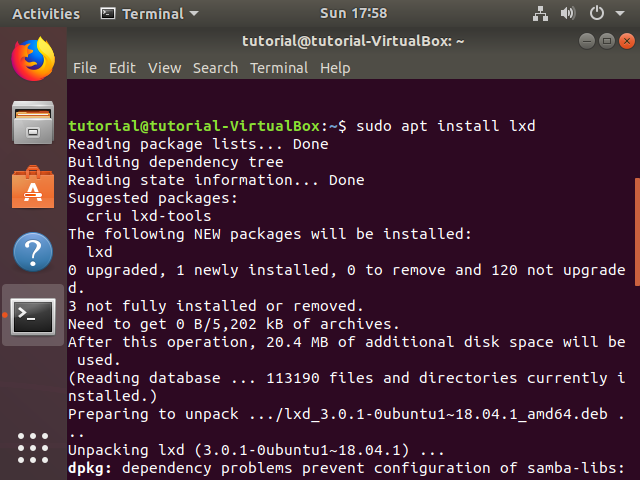 Step 2. Install the LXD package.