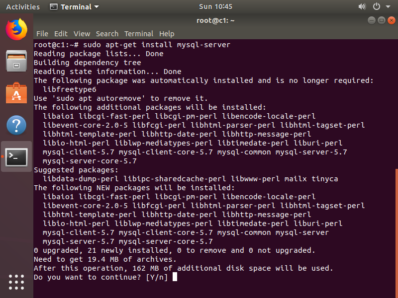 Step 8. Download and install MySQL Server.