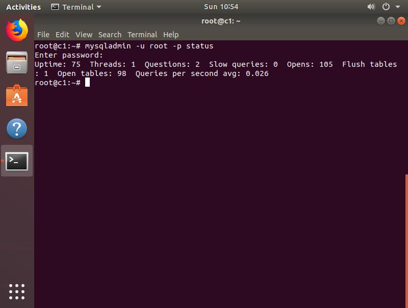 Step 10. Verify that mysql-server has installed properly.