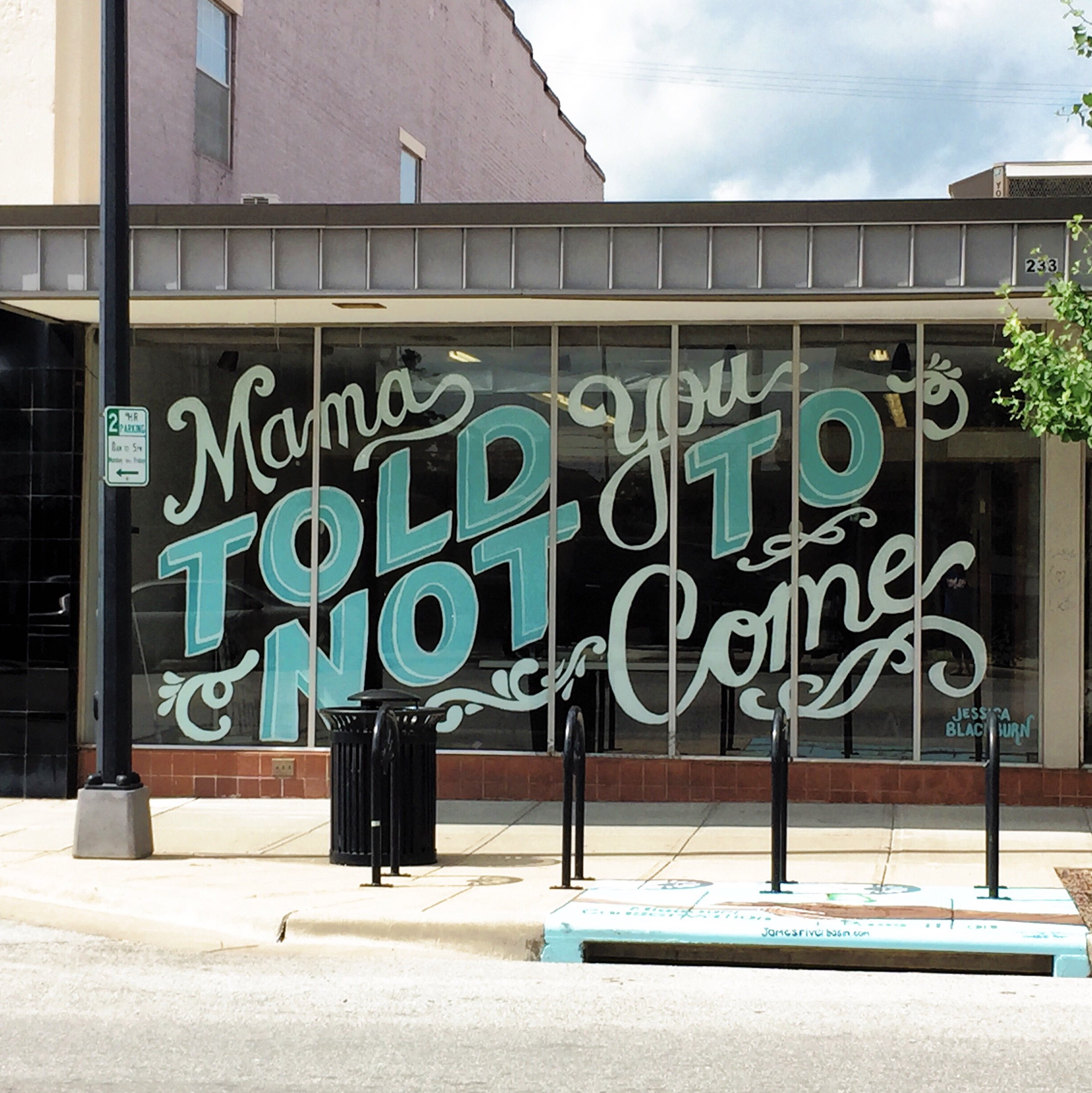 "Drury on C Street (21ft x 9 ft) ""Mama told you not to come"""